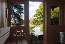 Enjoy two hours at The Secret Sauna, a wood-fired sauna cabin perched on the banks of the River