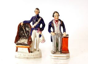 """A Victorian Staffordshire figure,""""Prince of Wales""""; and another of """"Spurgeon"""" (2)"""
