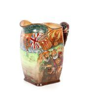 A Royal Doulton Francis Drake jug,No.428, 27cm high, with certificate