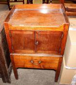 A 19th Century mahogany tray top night commode,55cm wide