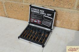 8 piece Deming drill set. *