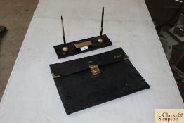 Ford desk set with fountain pen and pencil and For