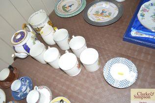 A quantity of various commemorative ware