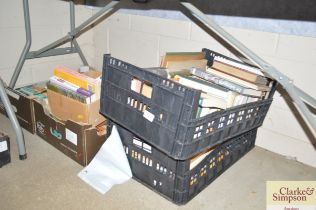Four boxes of various books