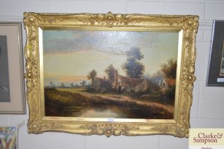 A 19th Century gilt framed English school study de