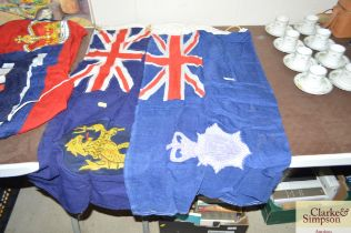 A Metropolitan Police flag and one other