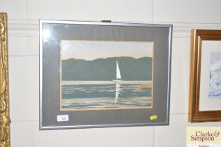 A 'At Neyland Milford Haven' watercolour study sig