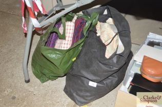 Two bags of various materials