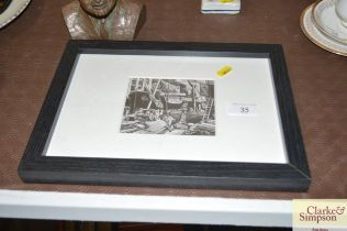 A George Mackay black and white print of Ipswich D
