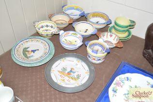 A quantity of Quimper pottery