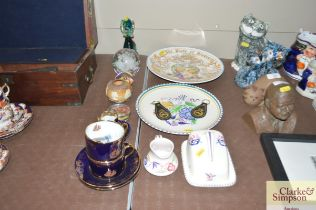 A small quantity of Poole pottery items; a Royal D