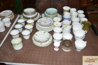 A quantity of various teaware to include Royal Dou
