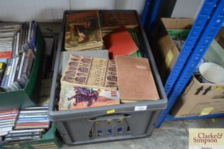 A box of various books