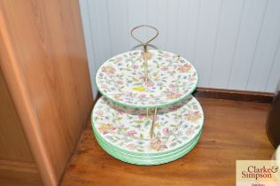 A Minton 'Haddon Hall' cake stand and quantity of