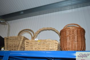 Four wicker baskets
