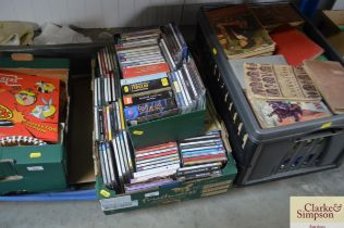 Two boxes of CD's