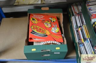 A box containing various tin, Walkers collectors a