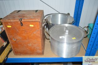A stainless steel preserve pan together with a coo
