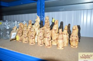 A 'Game of Thrones' style chess set, no board