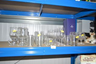 A quantity of various glassware to include Edinbur