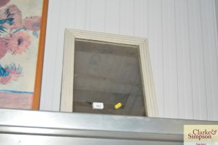 A white painted frame mirror