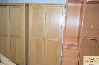 A G plan two door wardrobe
