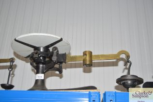 A set of Fairbanks US cast iron and brass counter
