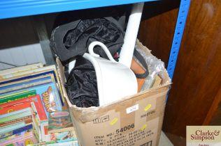A box of various sundry items