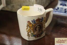 A 1953 Coronation mug