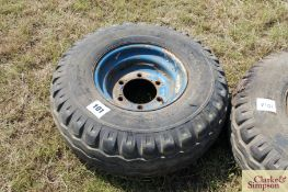 11.5/80-15.3 six stud trailer wheel and tyre. LH