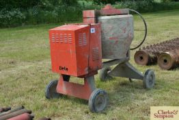 Belle Premier cement mixer. With single cylinder d