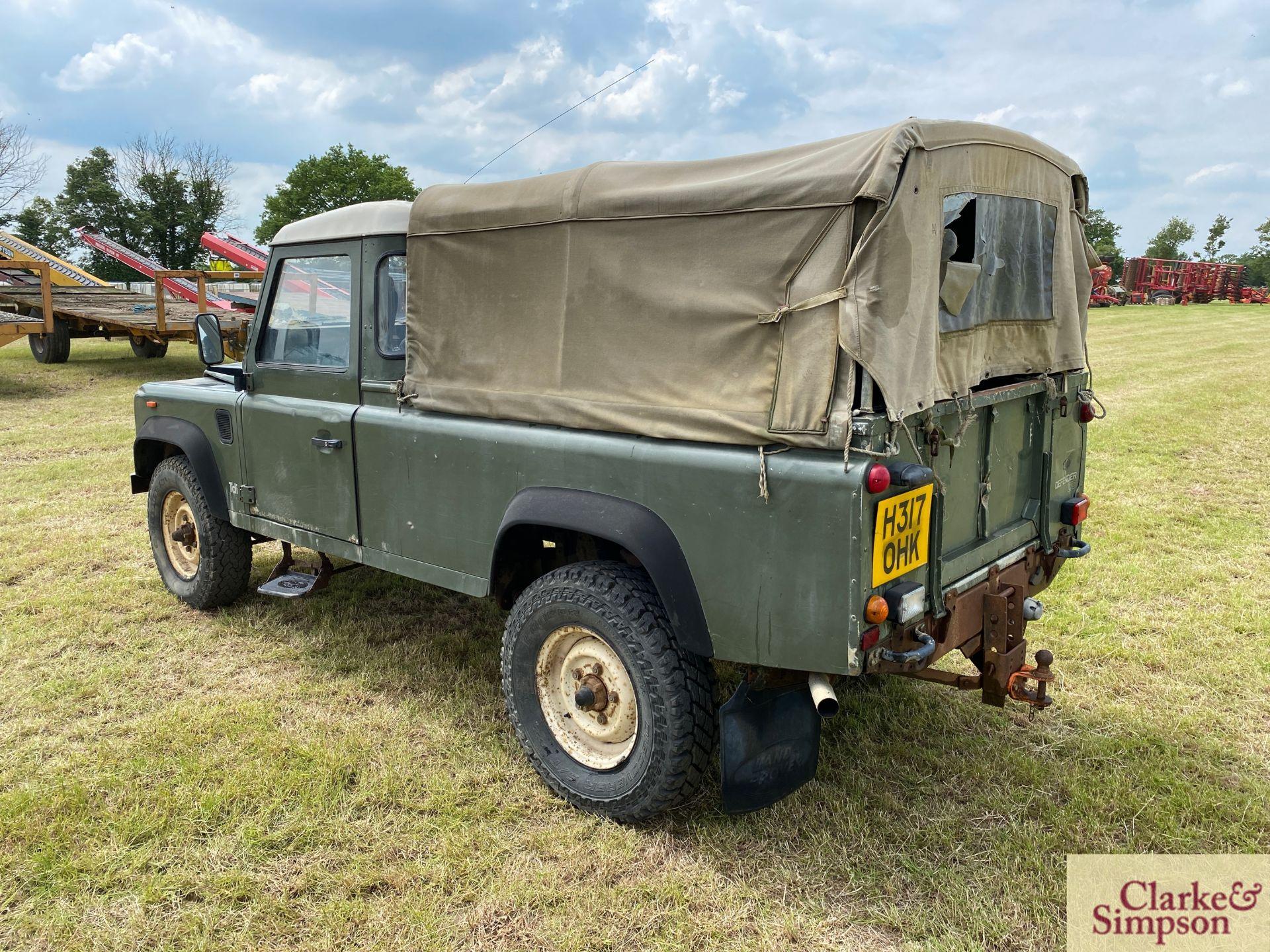 Land Rover Defender 110 single cab pick-up. Registration H317 OHK. Date of first registration 08/ - Image 7 of 56