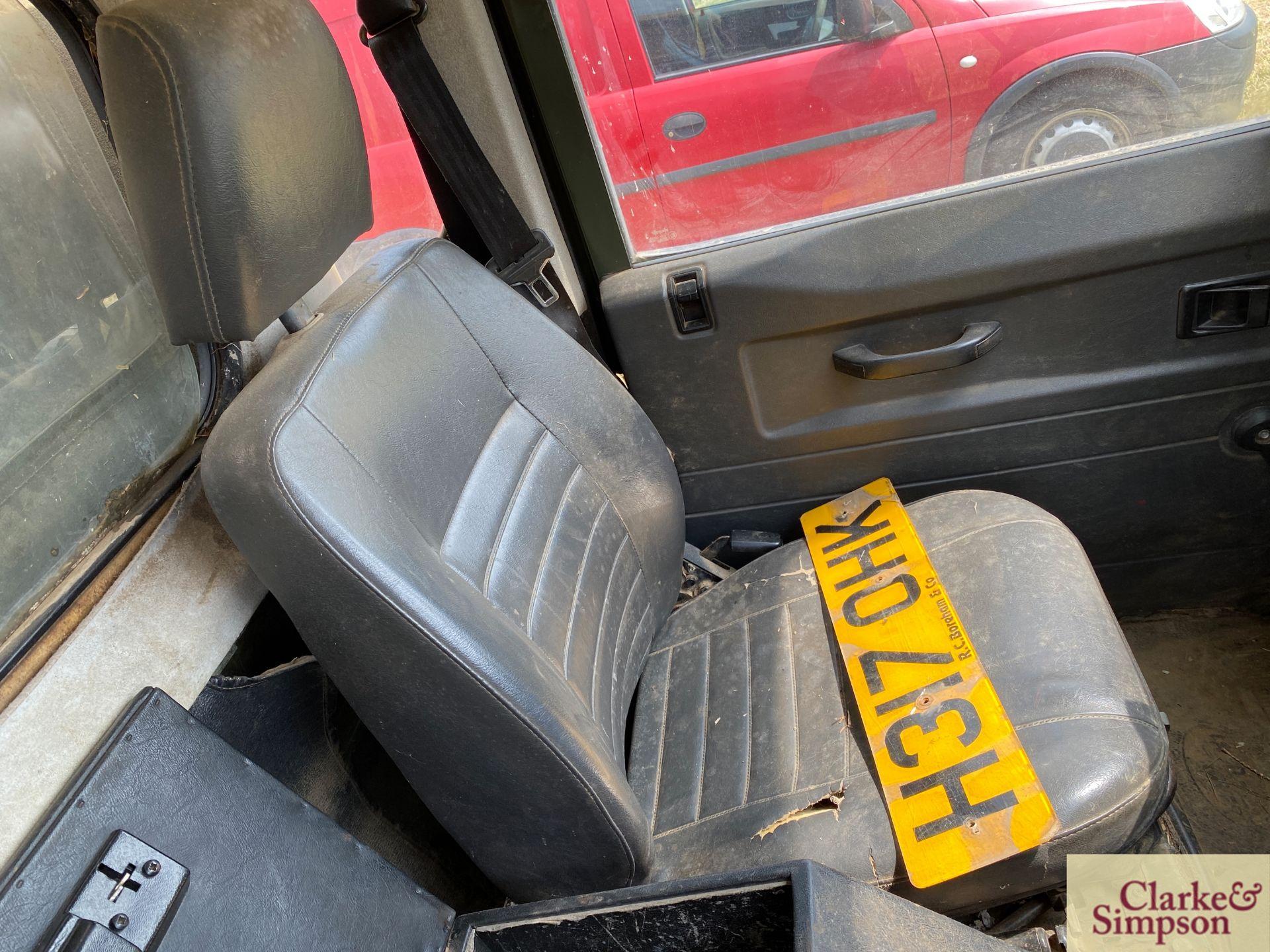 Land Rover Defender 110 single cab pick-up. Registration H317 OHK. Date of first registration 08/ - Image 42 of 56