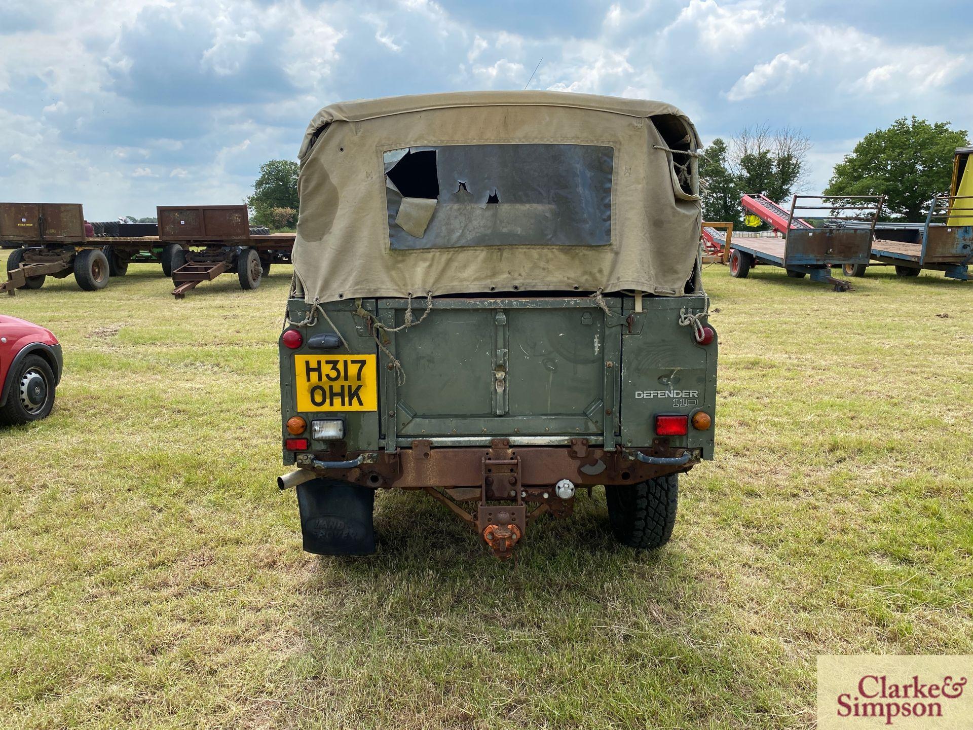 Land Rover Defender 110 single cab pick-up. Registration H317 OHK. Date of first registration 08/ - Image 6 of 56