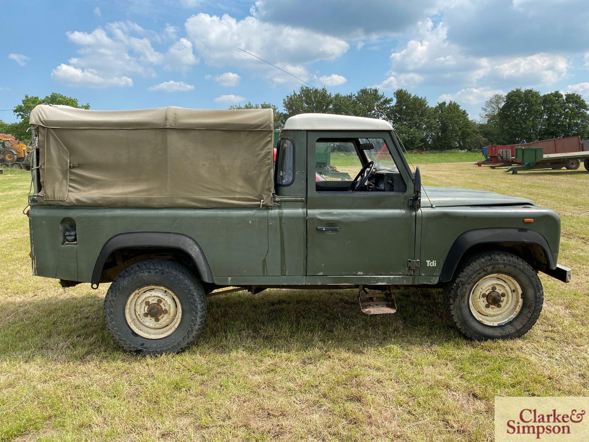 Land Rover Defender 110 single cab pick-up. Registration H317 OHK. Date of first registration 08/ - Image 4 of 56