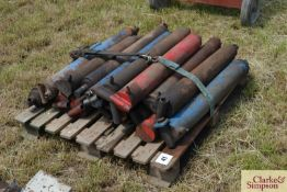 Large quantity of tipping trailer rams. M