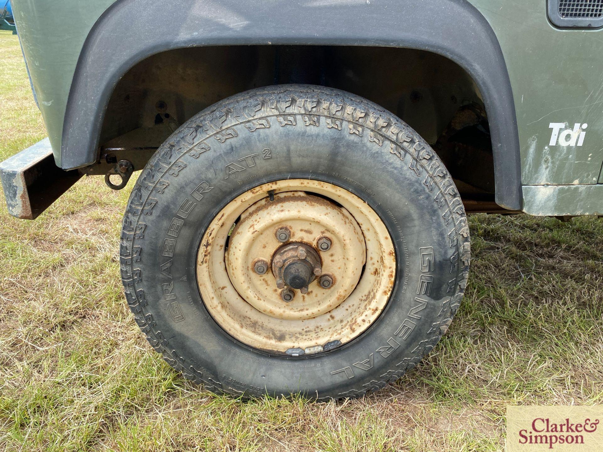 Land Rover Defender 110 single cab pick-up. Registration H317 OHK. Date of first registration 08/ - Image 13 of 56