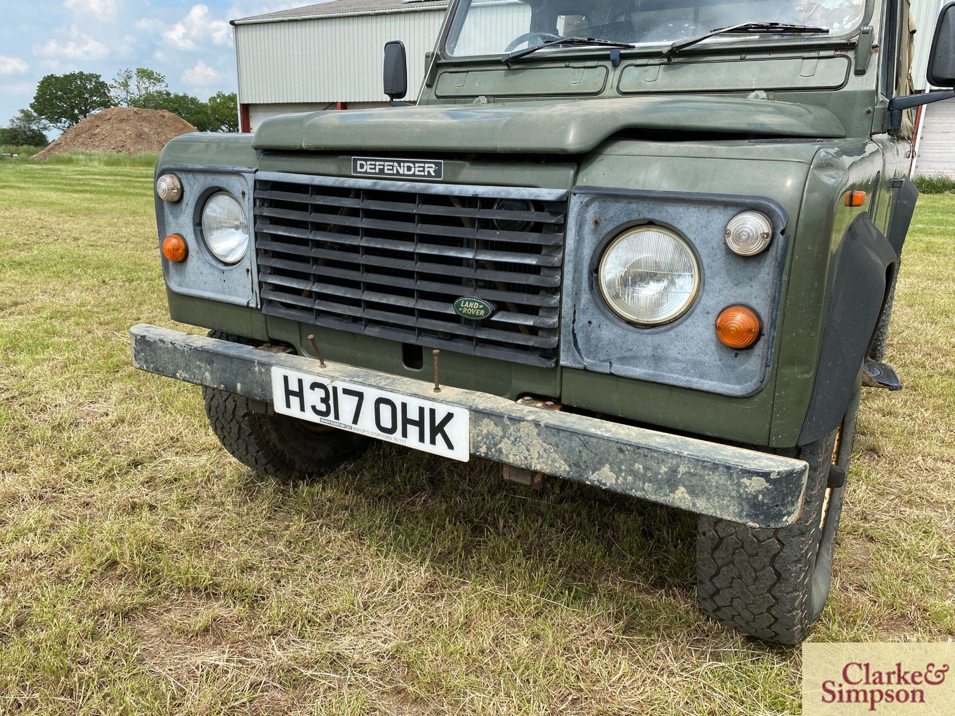 Land Rover Defender 110 single cab pick-up. Registration H317 OHK. Date of first registration 08/ - Image 10 of 56