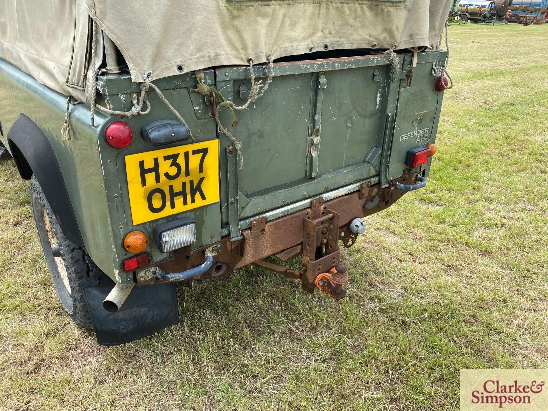 Land Rover Defender 110 single cab pick-up. Registration H317 OHK. Date of first registration 08/ - Image 24 of 56