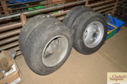 Four Range Rover wheels and Firestone tyres