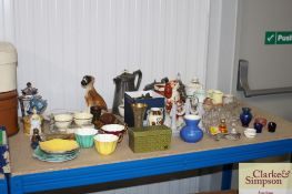A quantity of various china, brass and glassware t