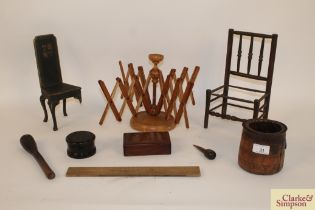 Various 19th Century miscellaneous treen items to