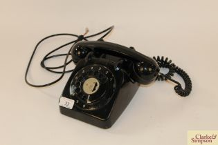 A dial up telephone