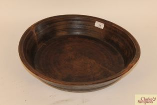 """A rustic turned elm maize bowl, approx. 16"""" dia."""