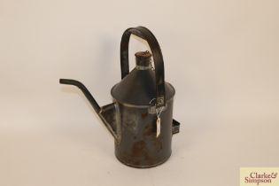 A rare British Rail two gallon oil can