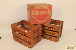 """Two Schweppes advertising crates one for """"Hardun & Sons Ltd."""