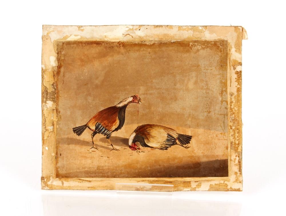 Three 19th Century cock fightingprints, (unframed) - Image 3 of 3