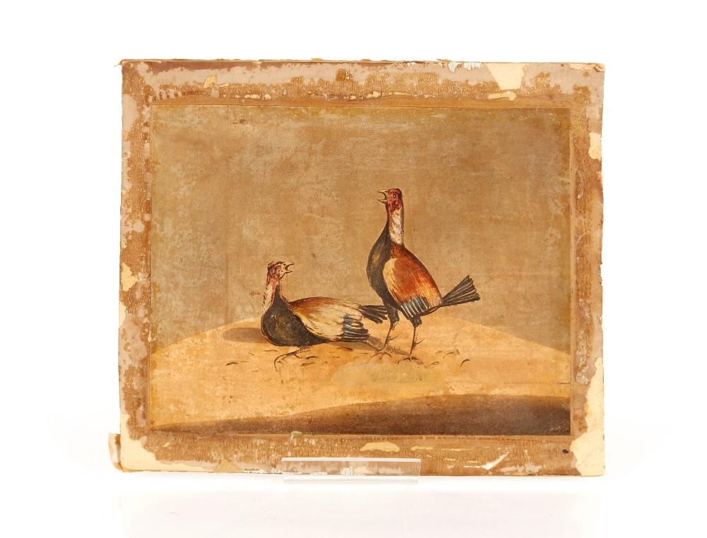 Three 19th Century cock fightingprints, (unframed) - Image 2 of 3