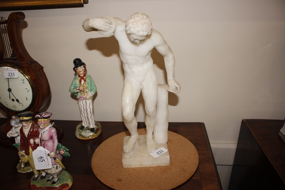 A pair of 19th Century alabaster figures,depicting athletes, 35cm high - Image 2 of 18