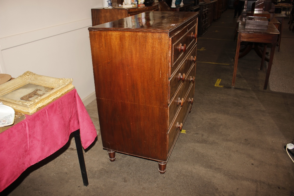 A 19th Century mahogany and cross banded secretairechest,the writing drawer with interior - Image 7 of 10